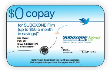 Suboxone Coupons – Here to Help Save $200 Monthly