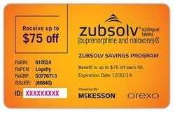 Zubsolv Coupon, Zubsolv Copay Card